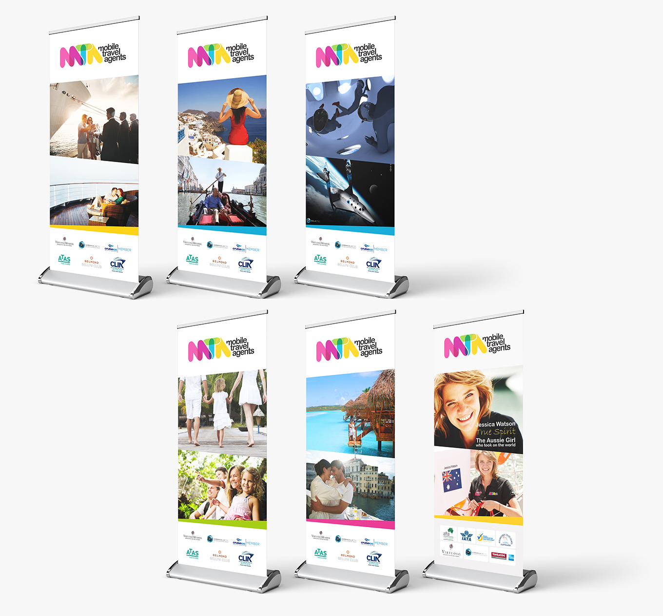 MTA - Mobile Travel Agents premium pull up banners design and print by FOX DESIGN