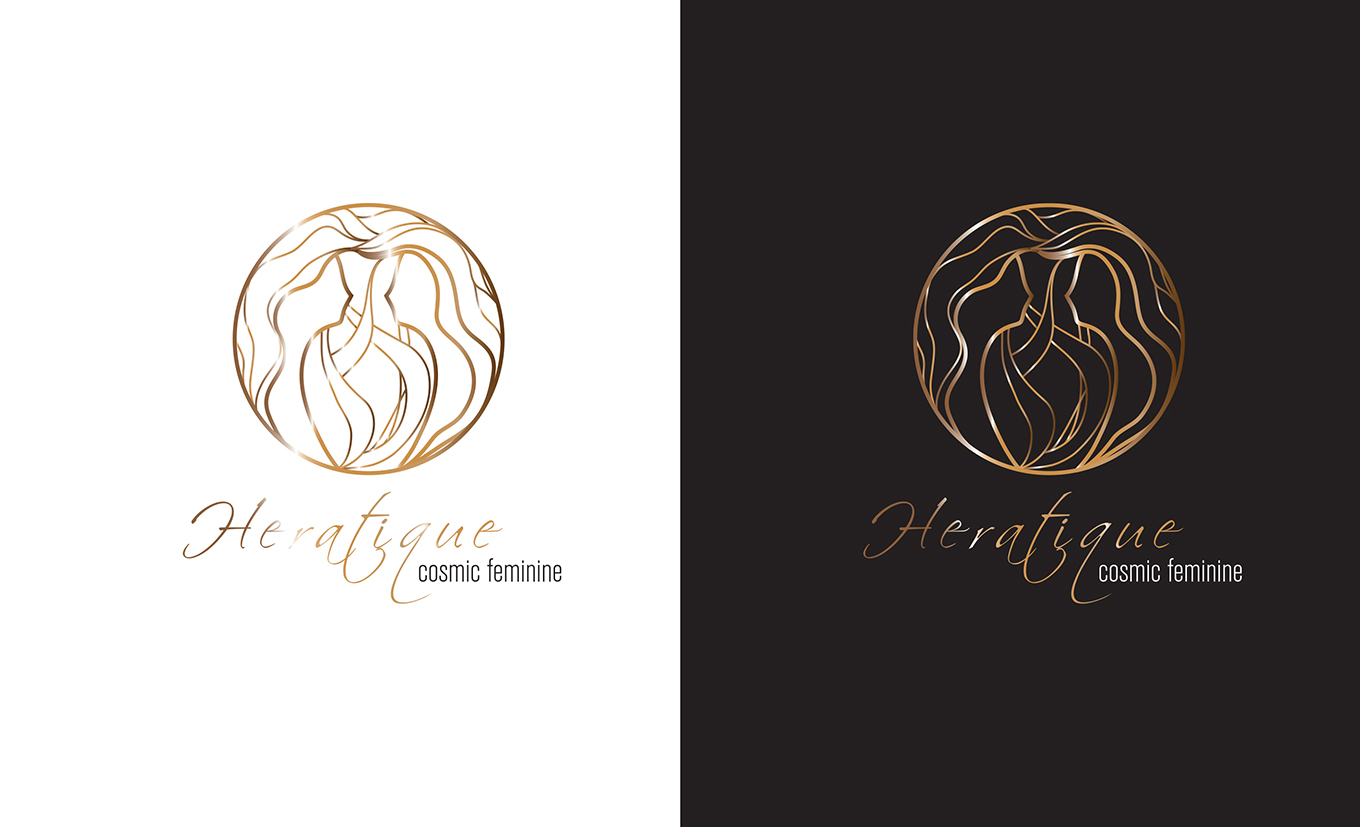 Heratique Cosmic Feminine logo 及包装设计