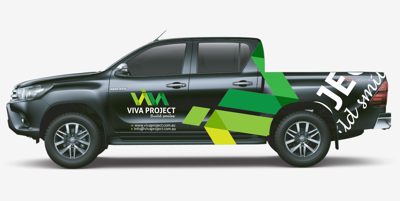 VIVA Project vehicle sign design by FOX DESIGN Sydney